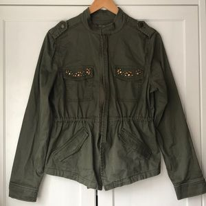Women's cute green utility jacket size small